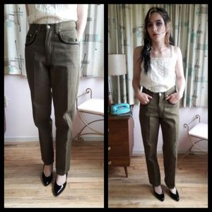 Amazing Vtg 80's Khaki green mom denim jeans!